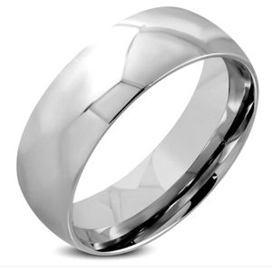 8mm Stainless Steel Mens Wedding Band